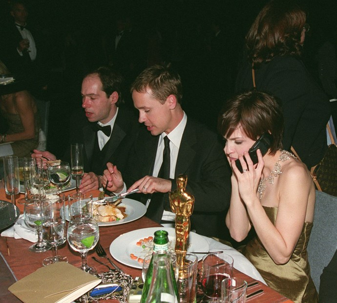 **HILLARY SWANK**  What is that, risotto?