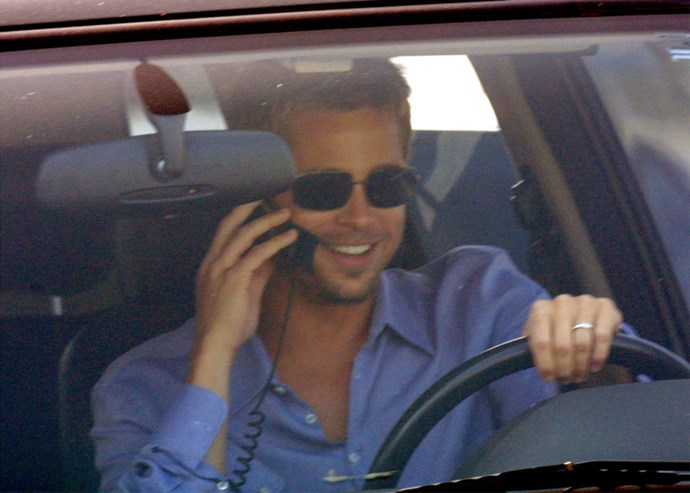 **BRAD PITT**  Awarding extra points if that phone happens to be stored in a bag.