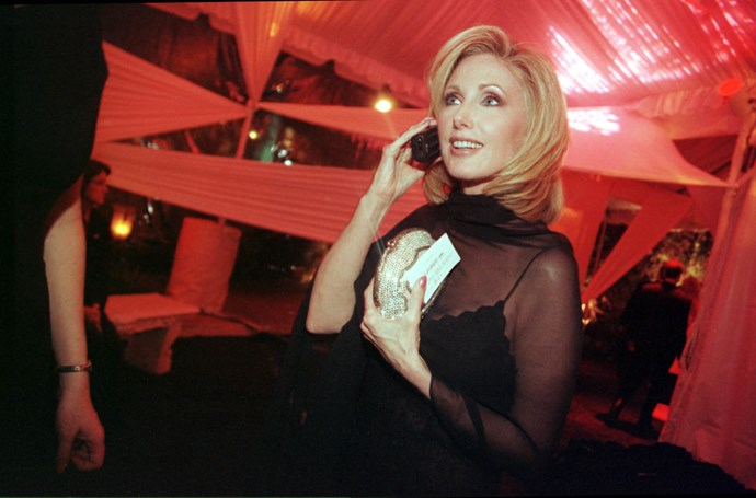**MORGAN FAIRCHILD**  Back when people wanted to go to the White House Correspondents' Dinner.