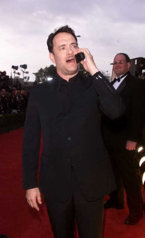 **TOM HANKS**  Apparently Tom Hanks is on a fan's cell right now, speaking to their relative, because he's perfect.