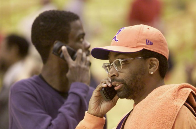 **CHRIS ROCK AND SPIKE LEE**  God I hope they're on the phone with each other.