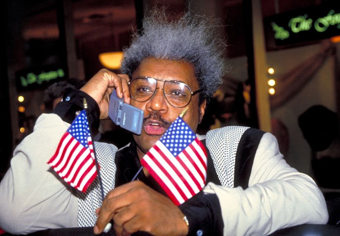 **DON KING**  One American flag is never enough.