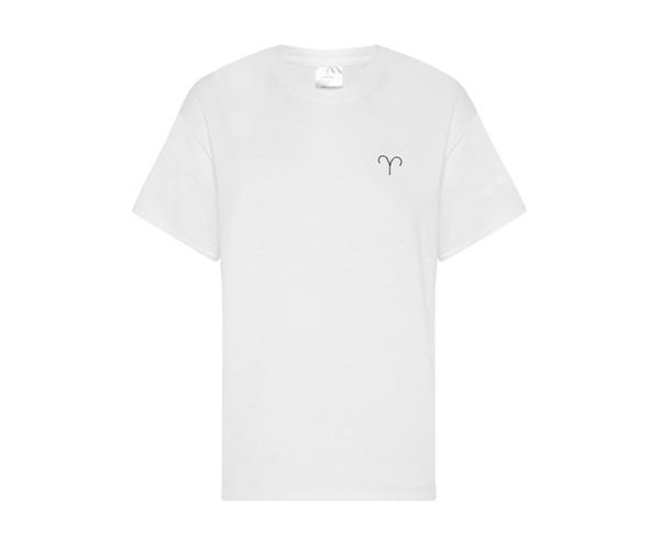 "**The Double Trouble Star Sign Tees and Jumpers** <br> <br> A minimal take on the trend.  <br> <br> Double Trouble ""Aries"" T-shit, $89, at [The Undone](https://www.theundone.com/products/double-trouble-star-sign-tshirt)."