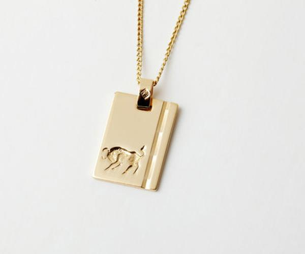 "Reliquia ""Taurus"" Star Sign Necklace, $149, at [Reliquia](http://www.reliquiajewellery.com/store/starsign-necklace)."