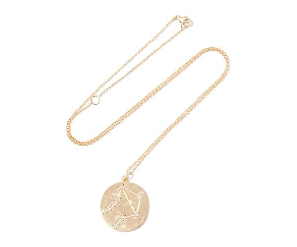 "**The Brooke Gregson Astrology Collection** <br> <br> Each pendant is accented with diamonds, mapping out the sign's constellation. <br> <br> Brooke Gregson ""Libra"" 14-karat Gold Diamond Necklace, $2,613.35, at [Net-A-Porter](https://www.net-a-porter.com/au/en/product/934330/Brooke_Gregson/libra-14-karat-gold-diamond-necklace)."