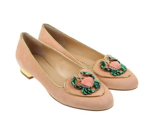 """**The Charlotte Olympia Birthday Shoes** <br> <br> There's a chic, suede slipper for every time of year. <br> <br> Charlotte Olympia """"Cancer"""" Suede Slippers, $598.62, at [Net-A-Porter](https://www.net-a-porter.com/au/en/product/365684/charlotte_olympia/cancer-suede-slippers)."""