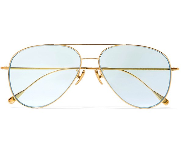 CUTLER AND GROSS Gold-Tone Aviators, $817.02, at [Net-A-Porter](https://www.net-a-porter.com/au/en/product/955625/Cutler_and_Gross/aviator-style-gold-tone-sunglasses).