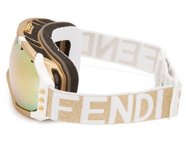 Maximum eye protection meets luxurious detailing.  <br> <br> Fendi Ski Goggles, $680, at [Matches Fashion](http://www.matchesfashion.com/au/products/Fendi-Logo-jacquard-ski-goggles-1154242).