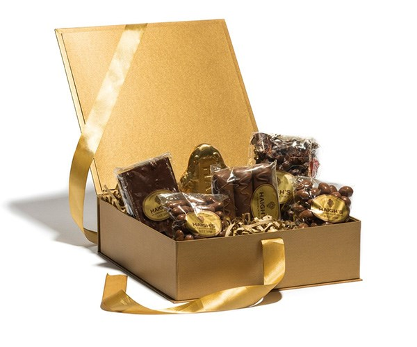 **For the dad who sneaks all the treats in the house** <br> <br> A Haigh's banquet will always be the way to his heart. <br> <br> [Haigh's](www.haighschocolates.com.au ) Chocolates, Father's Day Milk & Dark Selection Hamper,$79,  available at the QVB store Sydney.