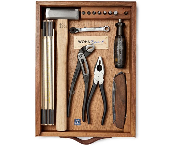 **For the dad that pretty much lives in the shed** <br> <br> The DIY dad can never have enough tools. <br> <br> Wohngeist 7-Piece Tool Kit In Wood Case, $1,542.50, at [Mr Porter](https://www.mrporter.com/en-au/mens/wohngeist/7-piece-tool-kit-in-wood-case/933481).