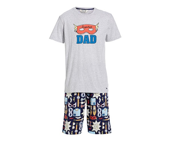 **For the super dad** <br> <br> He'll make his job look even easier whizzing around in these PJ's. <br> <br> Peter Alexander Superdad PJ Set, $99.95, at [Peter Alexander]( http://www.peteralexander.com.au/shop/en/peteralexander/mens-super-dad-pj-set).