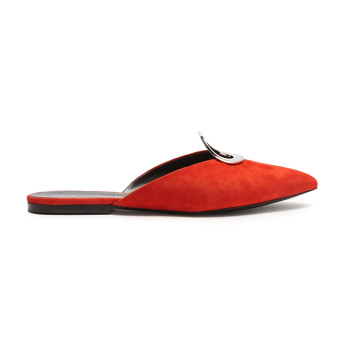 A pair of red flats<br><br> To add colour to your everyday all-black.<br><br> Slippers, $704, [Proenza Schouler](http://www.matchesfashion.com/products/Proenza-Schouler-Point-toe-suede-slipper-shoes-1154477) at matchesfashion.com.