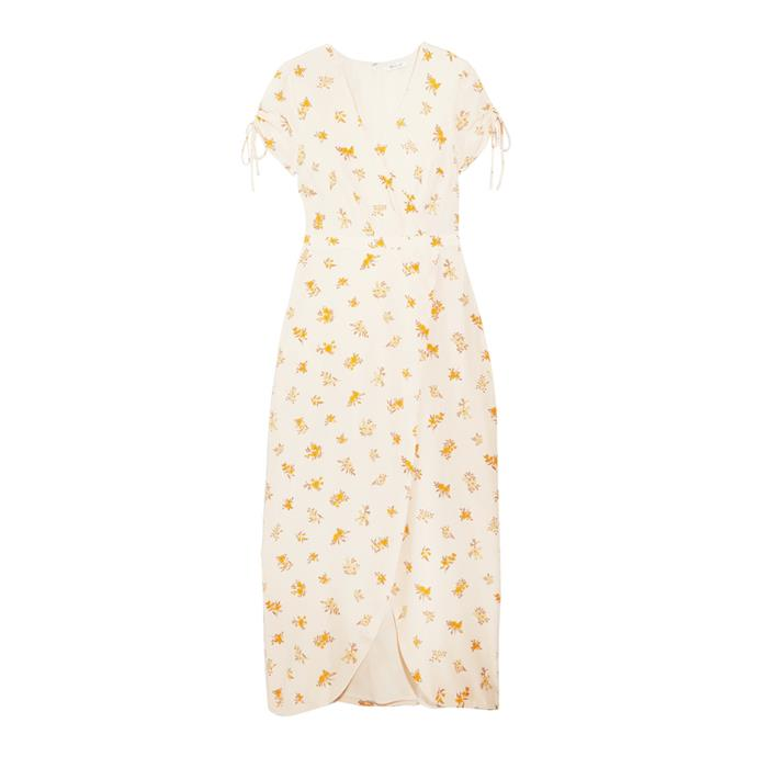 A breezy tea-lenth dress<br><br> To throw on to cure Humpday blues.<br><br> Dress, $243, [Madewell](https://www.net-a-porter.com/au/en/product/863869/madewell/magdalena-wrap-effect-floral-print-silk-crepe-de-chine-dress) at net-a-porter.com.