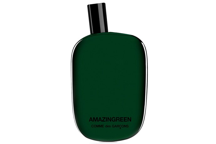 Amazingreen, $130, Comme des Garçons at [Mecca](http://www.mecca.com.au/comme-des-garcons/amazingreen-edp/V-014869.html) <br><br> **Top notes:** Green pepper, coriander seeds, gunpowder accord and white musk.