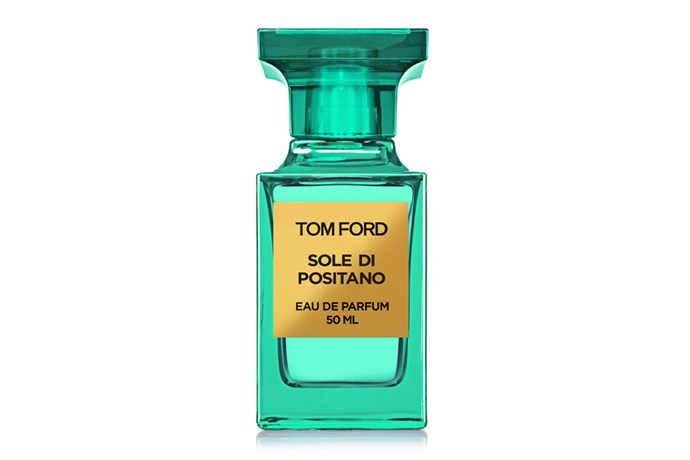 Sole Di Positano, $340, Tom Ford at [David Jones](http://shop.davidjones.com.au/djs/en/davidjones/sole-di-positano-50ml) <br><br> **Top Notes:**  Bergamot, petitgrain bigarade, lemon and mandarin.