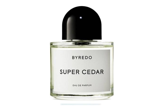 Super cedar, $272, Byredo at [Mr Fresh](https://www.mr-fresh.com.au/fragrances/byredo/207000/super-cedar-eau-de-parfum-spray) <br><br> **Top notes:** Virginian cedarwood, silk musk and Haitian vetiver.