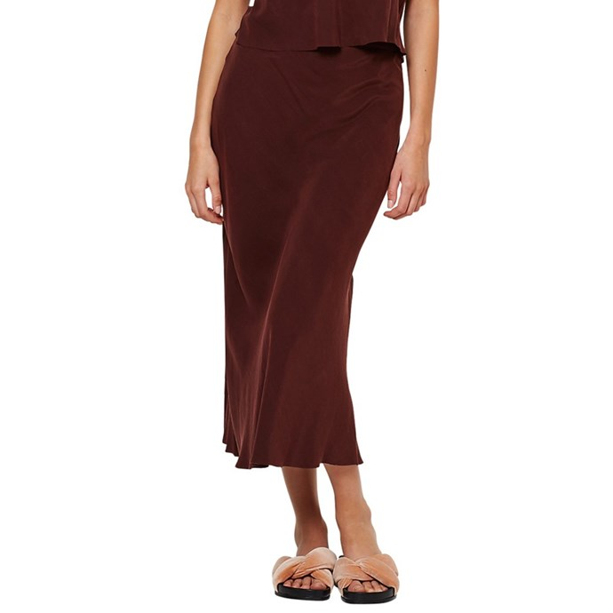 **The bias-cut slip midi skirt**<br><br> Skirt, $190, [Bec & Bridge](https://www.becandbridge.com.au/skirt/classic-skirt-12081.html)