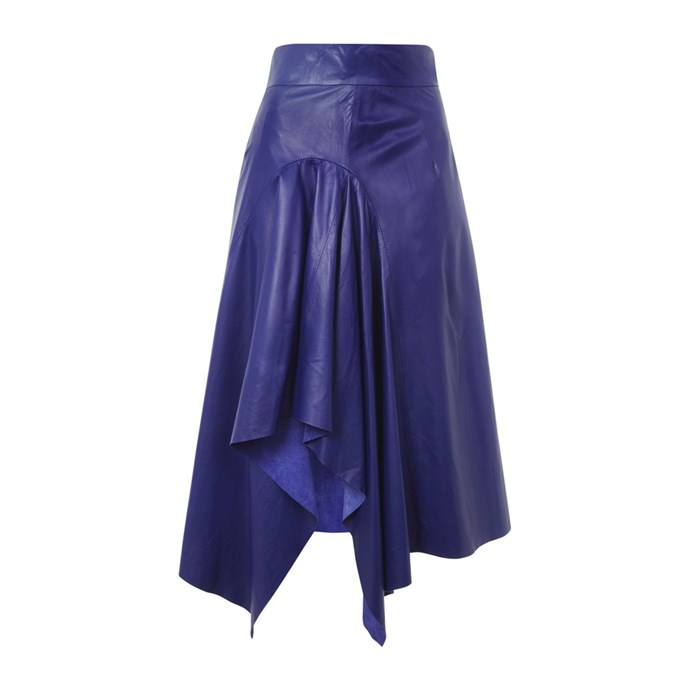 **The high-shine leather midi skirt**<br><br> Skirt, $260, [Topshop](http://www.topshop.com/en/tsuk/product/clothing-427/skirts-449/cobalt-leather-skirt-by-boutique-6890287?bi=0&ps=20)