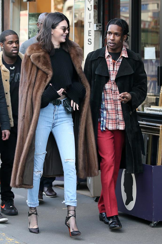 Jenner and Rocky in January.