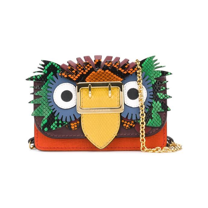 Mini bag, $1,295, [Burberry](https://au.burberry.com/the-mini-buckle-bag-in-beasts-motif-leathersnakeskin-p40557081?search=true)