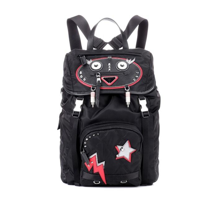 Backpack, $2,162, [Prada](https://www.mytheresa.com/en-de/000999-robot-backpack-852614.html?catref=category#&gid=1&pid=1) at mytheresa.com