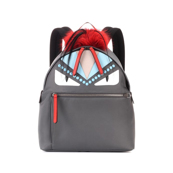 Backpack, $2,759, [Fendi](https://www.mytheresa.com/en-de/000297-fur-and-leather-embellished-backpack-796986.html?catref=category#&gid=1&pid=1) at mytheresa.com