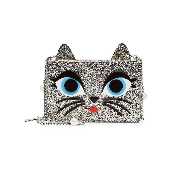 Clutch, $284, [Karl Lagerfeld](https://www.stylebop.com/en-au/women/choupette-mini-box-clutch-with-chain-strap-277181.html) at stylebop.com