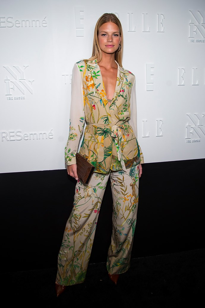 Nadine Leopold, at the *ELLE*, E! & IMG NYFW Kickoff Party