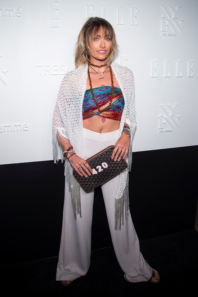 Paris Jackson, at the *ELLE*, E! & IMG NYFW Kickoff Party