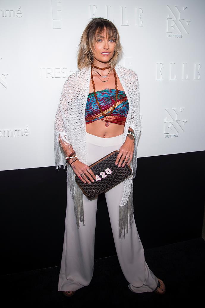 Paris Jackson, at the *ELLE*, E! & IMG NYFW Kickoff Party