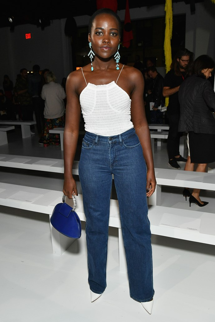Lupita Nyong'o, at Calvin Klein