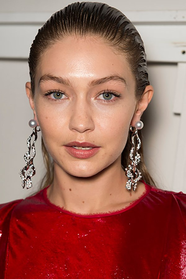 **Prabal Gurung:** Slicked-back hair, flawless skin and jet-black nails were the order of the day at Prabal Gurung with Gigi and Bella Hadid serving as the perfect poster girls for our go-to beach-to-bar look this summer.