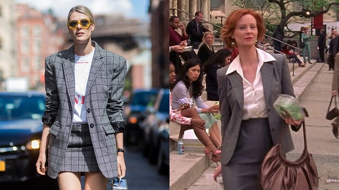 **The Grey Skirt-Suit With White Shirt**<br><Br> Sofie Valkiers / Miranda Hobbes