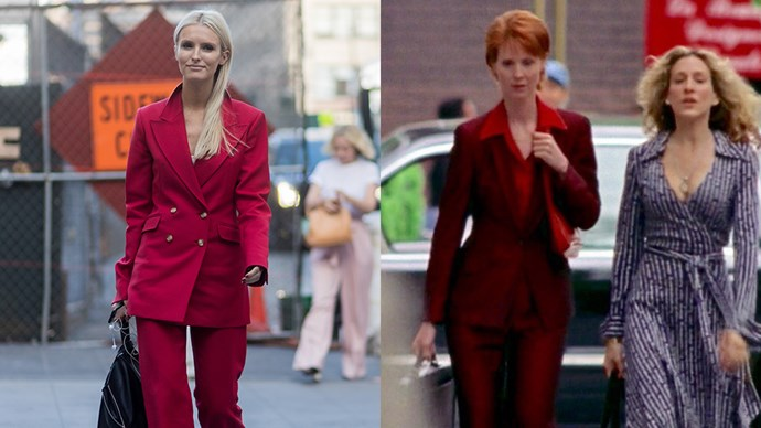 **The All-Red Power Suit**<br><Br> Kate Davidson Hudson / Miranda Hobbes