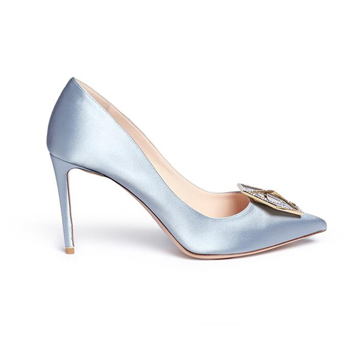 These pastel satin pumps are perfect for [Kennedy Oaks Day](http://www.elle.com.au/preview/spring-racing/spring-racing-race-day-etiquette-14360). Pumps, $965, [Nicholas Kirkwood](http://www.lanecrawford.com/product/nicholas-kirkwood/-eden-strass-hexagon-plate-satin-pumps/_/JLU498/product.lc) at Lane Crawford