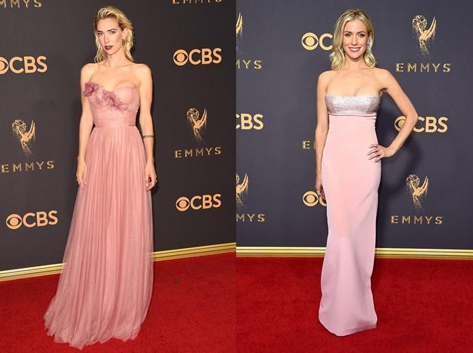 **Vanessa Kirby / Kirstin Cavallari**<br><br> The strapless pink A-line dress