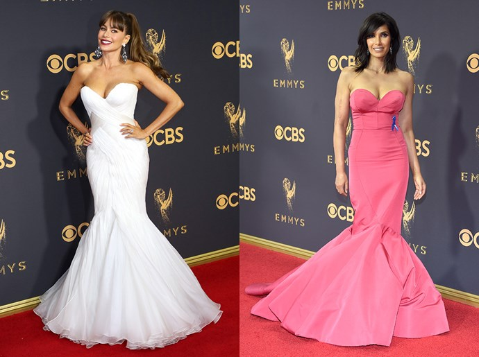 **Sofia Vergara / Padma Lakshimi**<br><br> The strapless mermaid dress
