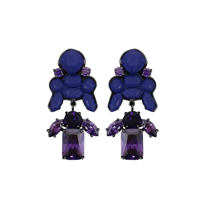 Drop earrings will add a pop of colour to any monochrome outfit on AAMI Victoria Derby Day. Earrings, $215, [EK Thonpgrasert](https://www.parlourx.com/styles/jewellery/ek-thongprasert-stepney-drop-earrings-navy-amethyst.html) at Parlour-X