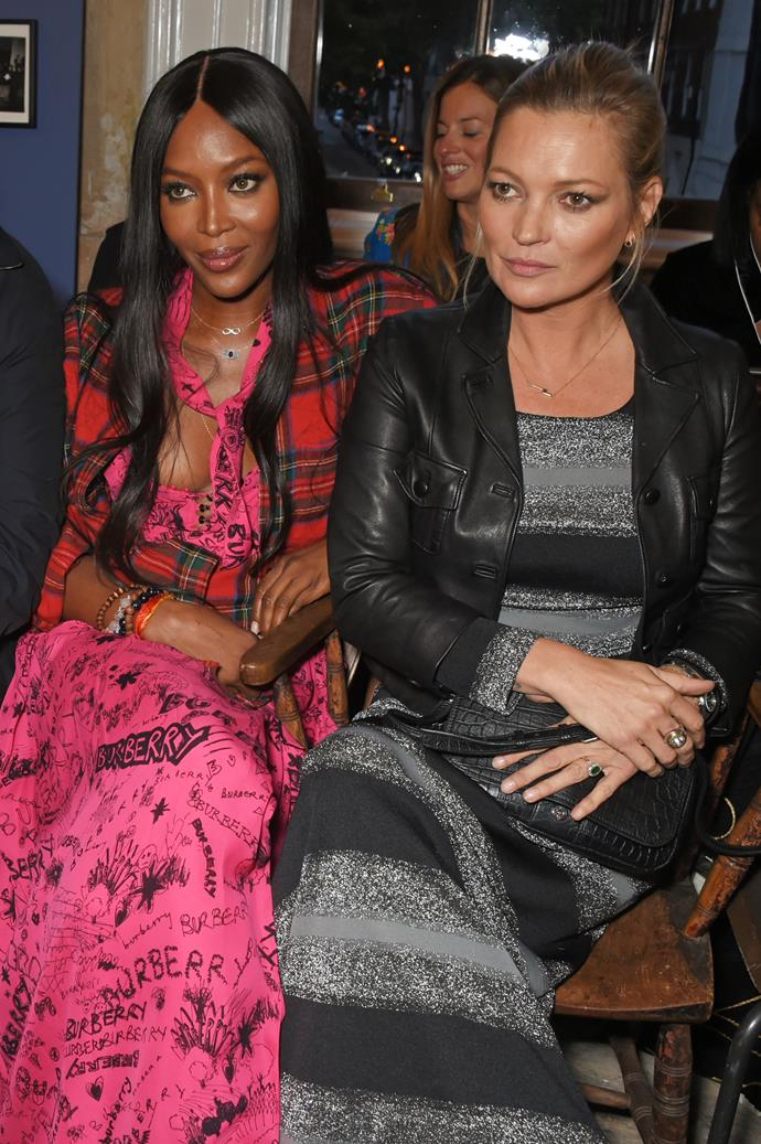 Naomi Campbell and Kate Moss at Burberry