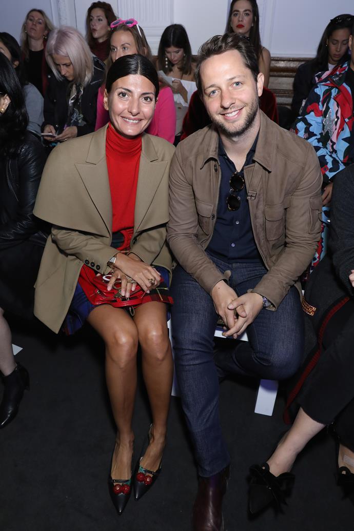 Giovanna Englebert and Derek Blasberg at Anya Hindmarch