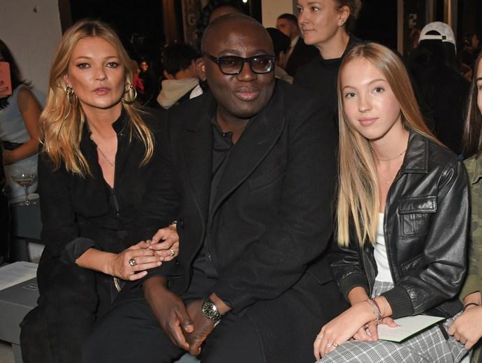 Kate Moss, Edward Enninful and Lila Grace Moss Hack at Topshop