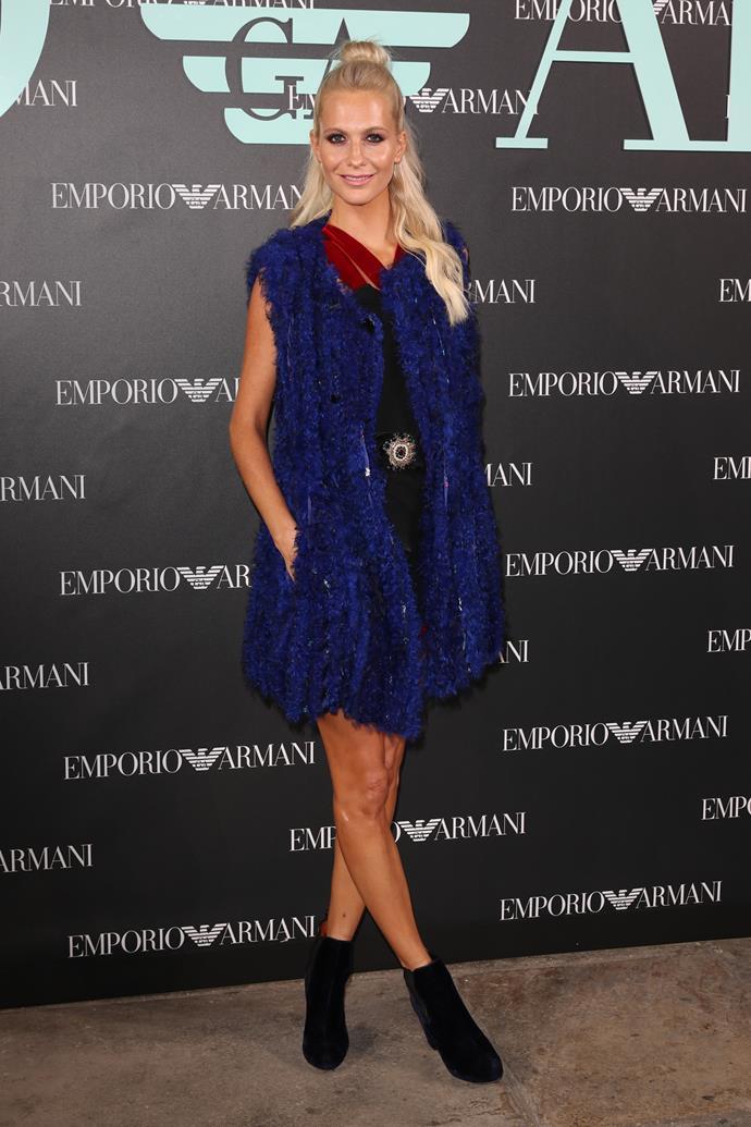 Poppy Delevingne at Emporio Armani