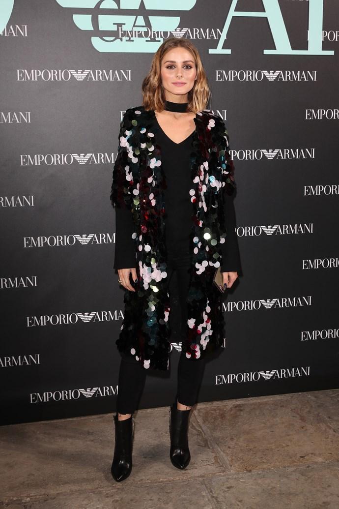 Olivia Palermo at Emporio Armani