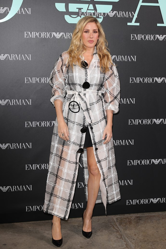 Ellie Goulding at Emporio Armani