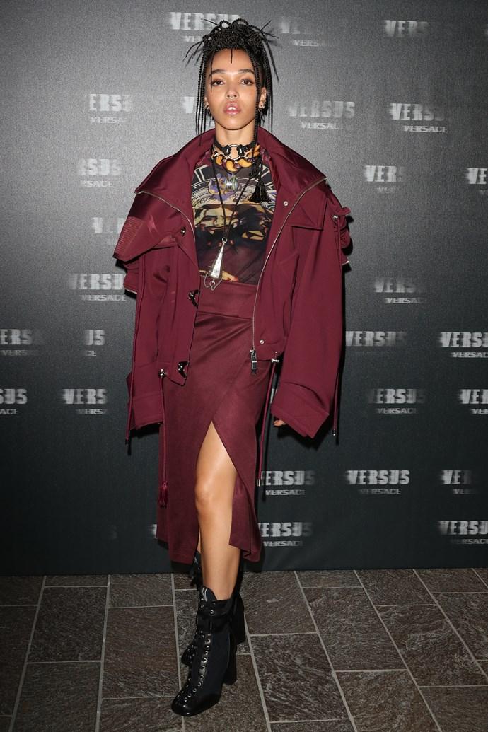 FKA Twigs at VERSUS Versace