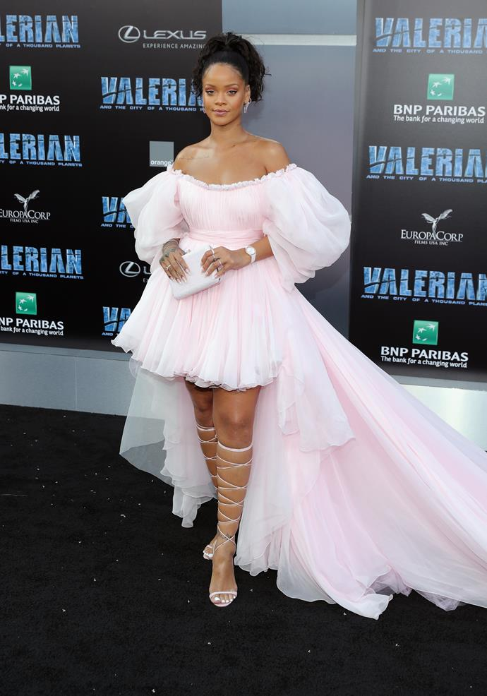 At the Los Angeles premiere of *Valerian and the City of a Thousand Planets.*