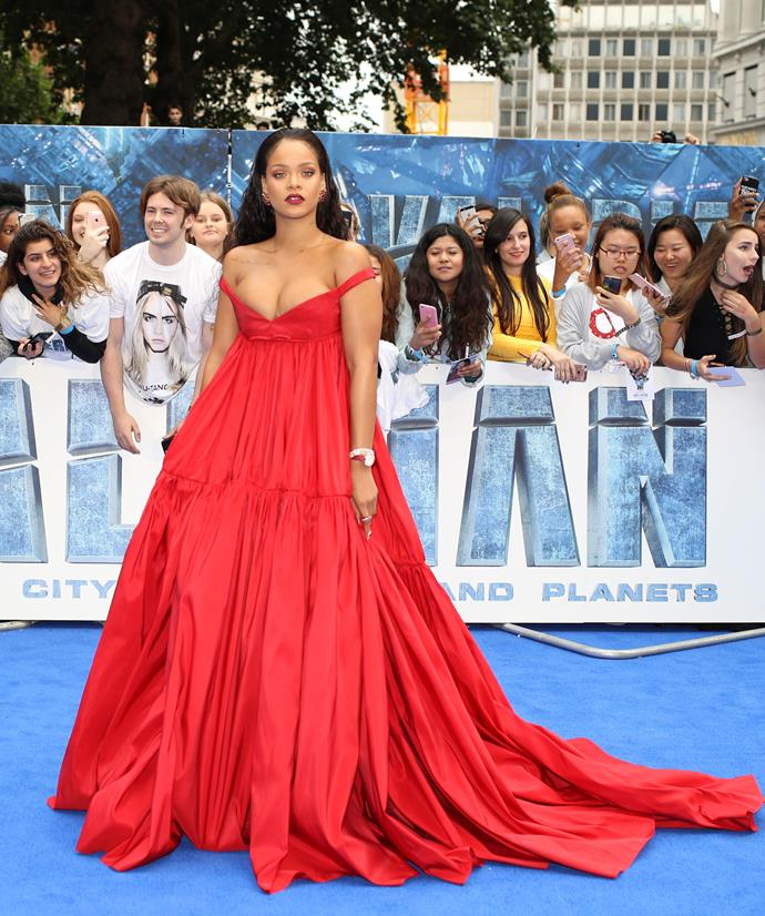 At the London premiere of *Valerian and the City of a Thousand Planets.*