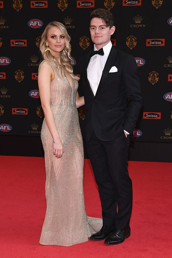 Lachie Neale and Julie Clark.