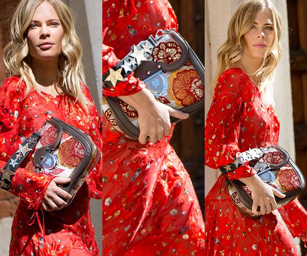 "**Embroidered Bags:** Jessie Bush of [We The People](http://www.wethepeoplestyle.com/) got first dibs on the new-season [Furla Ducale handbag](http://www.furla.com/au/en) ahead of the brand's S/S '18 preview and made a stylish case for embroidery entering your wardrobe in this street style shoot: ""I think that embroidery is having a strong run, something that Furla embraced fully in this latest collection. I'm looking forward to seeing the creative ways that embroidery is used in the coming seasons,"" she tells *ELLE*. ""Furla is known for their playful prints and unexpected colour palettes, so I went with a bold red full-length dress by Preen,"" she says on her outfit choice. The star-adorned embroidered [Furla Ducale bag](http://www.furla.com/au/en) is definitely on our radar.  <br><br>*Photography: Nabile Quenum*"