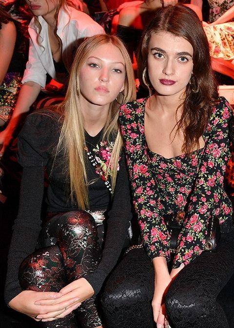 **Ella Richards and McKinley Hill** <br> <br> Ella's a Brit who's modelled for Burberry and Topshop; she's Keith Richards' granddaughter. McKinley hails from Colorado and hopes to follow in the footsteps of her big sister, Taylor Hill. Both are super nice girls.